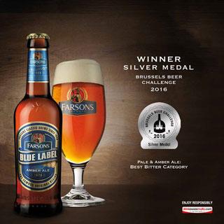 Le birre Farsons vincono l'oro e l'argento al Brussels Beer Challenge