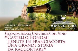 Seconda serata Università del Vino: il 13 dicembre con Alessandro Scorsone