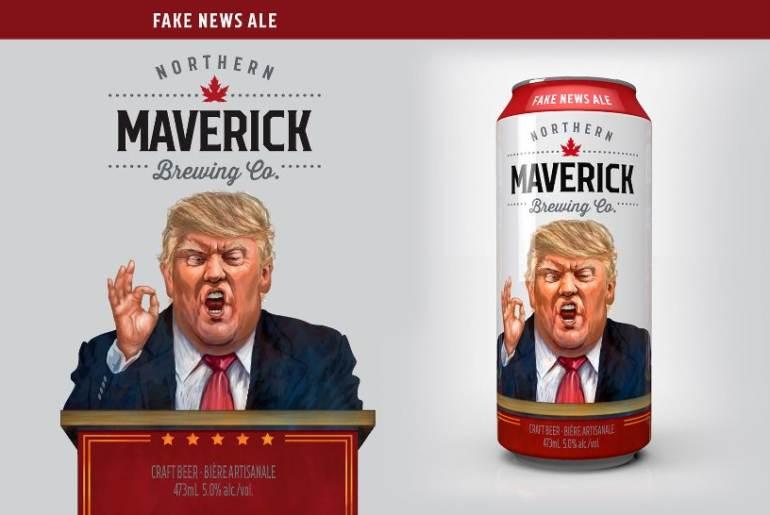 Maverik Fake news Ale - Donald Trup - birra politici