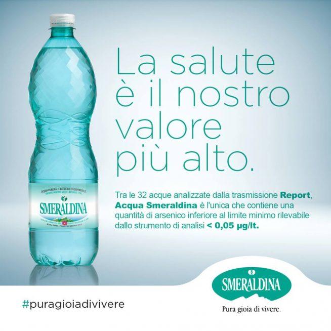 La salute è il nostro valore più alto- acqua Smeraldina