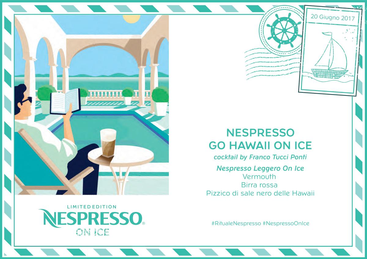 La ricetta del cocktail 'Nespresso Go Hawaii On Ice' ideata da Franco 'Tucci' Ponti usando Nespresso Leggero On Ice