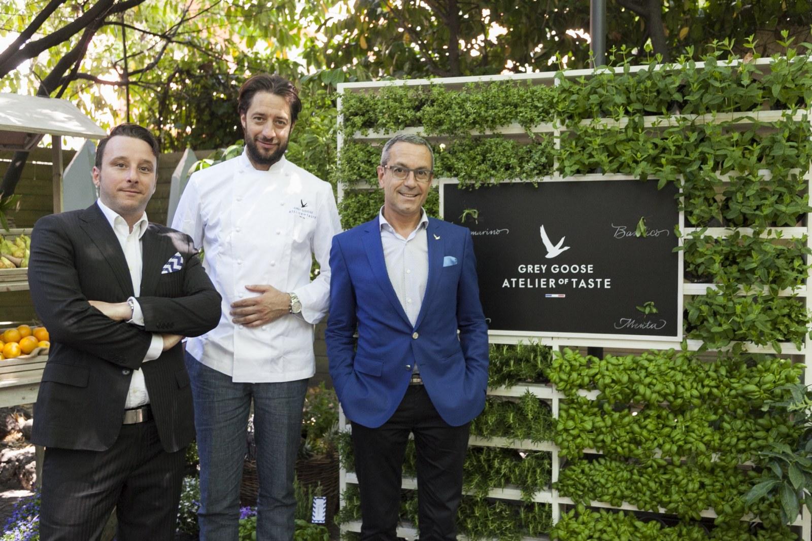 Grey goose atelier of taste la terza dimensione del food for Luigi taglienti chef