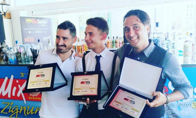 I primi 3 classificati della 3° edizione di MixFactor Zignum Experience - 1° Artem Cherepynskyy - 2° Mariano Minieri - 3° Umberto Sparacio