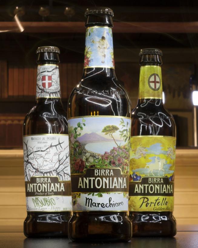 le 3 birre premiate con l'oro di Birra Antoniana: Pasubio, Marechiaro e Portello