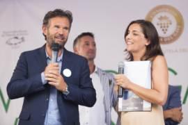 Carlo Cracco, Lisa Casali e alle spalle Francesco Bergaglio a Di Gavi In Gavi 2017