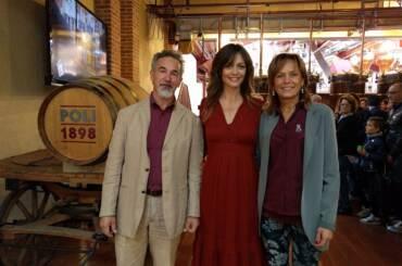 Jacopo e Cristina Poli con Francesca Cavallin