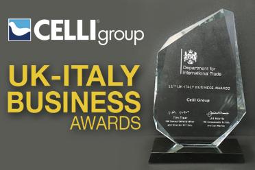 Il Gruppo Celli vince il premio ELITE agli UK-Italy Business Awards
