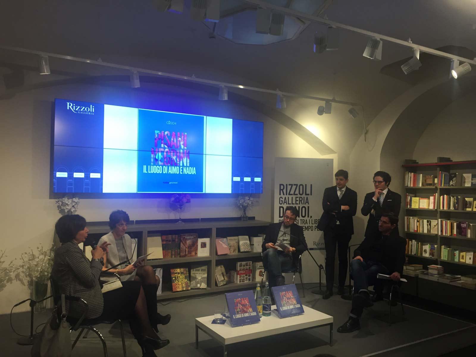 Serata di presentazione del libro alla libreria Rizzoli
