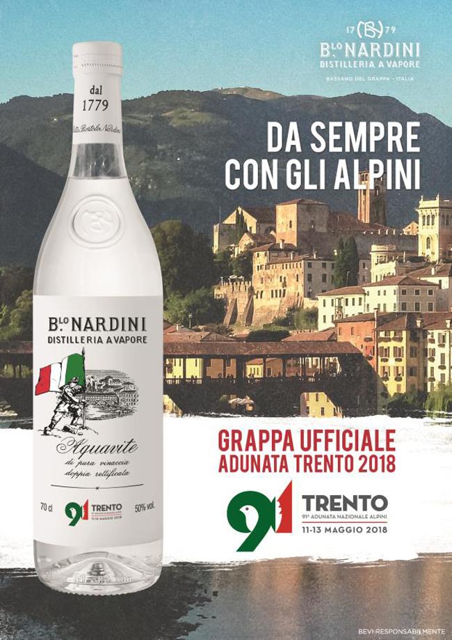 Nardini Bortolo Nardini Trento Grappa Nardini Etichetta Adunata Nazionale Alpini Alpini Grappa Adunata