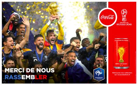Coca Cola in Francia lancia una campagna per celebrare la vittoria del mondiale