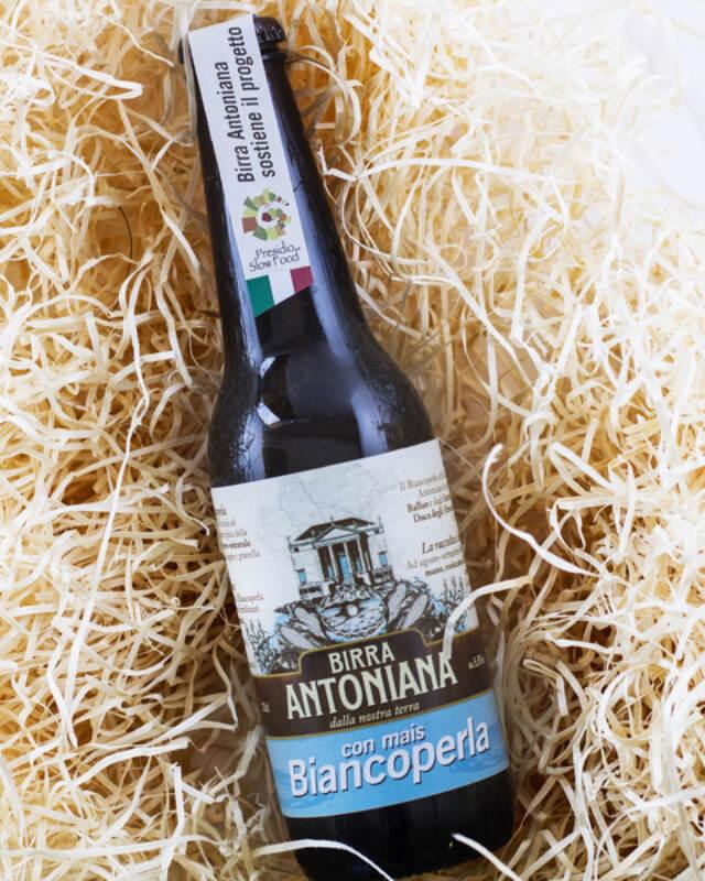 Birra Antoniana con mais Biancoperla