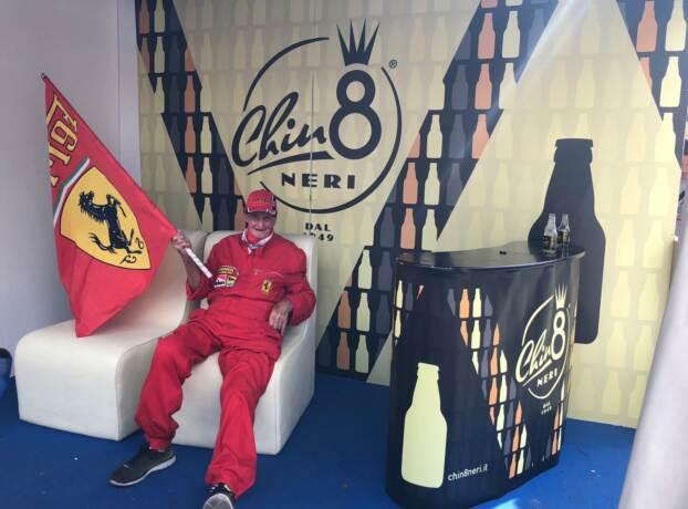 Targa Florio un fan della Ferrari nel Sal8 di Chinotto Neri