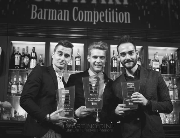 I finalisti. da sx: Michael Tommasi, Stefano Cattaneo e Alessandro Fanfani