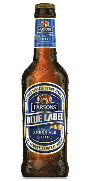 FARSONS BLUE LABEL AMBER ALE Logo/Marchio