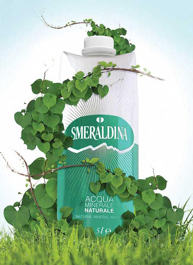 Acqua Minerale Natura Alb - Acqua Smeraldina Confezione Ecologia & Ecosostenibilità Amante Paperwater Smeraldina