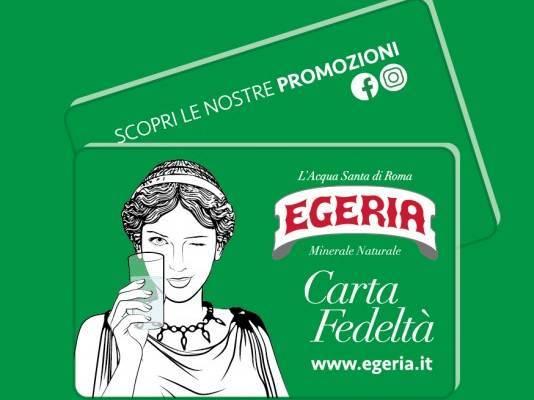 Acqua Santa Roma Prossimità Egeria Fedeltà Commercio Green Promozione Carta Fedeltà Acqua Egeria Acqua Carta