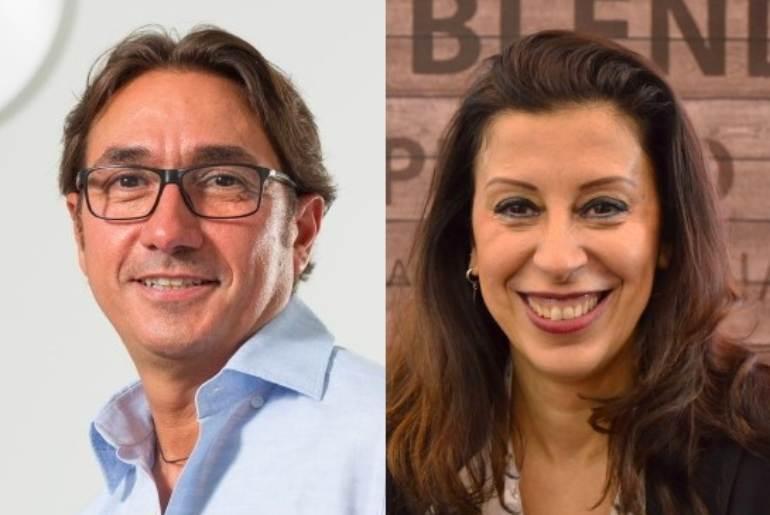 a sinistra Luigi Morello e a destra Barbara Chiassai