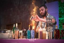 Nicolo Pedreschi del Tiki Bar di Livorno Makutu vincitore della finale della Florence Cocktail Week