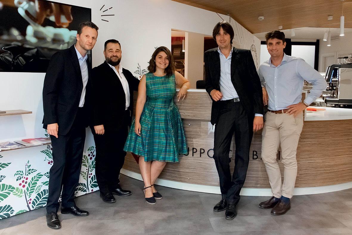 Nuova filiale GC Roma_8_ team della filiale di Roma Roberto Maucci, Andrea Spini, Arianna Ruvolo , Marco Bigioni, Federico Fossati