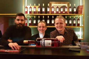 Campari Barman Competition 2020 finalisti: Riccardo Carboneschi, Martina Proietti, Corey Squarzoni