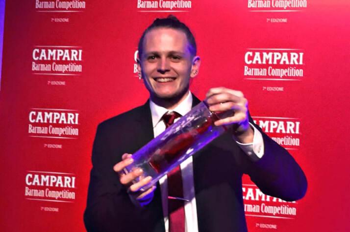 Corey Squarzoni vincitore Campari Barman Competition 2020