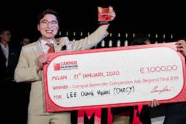 Dong Hwan Lee detto Dacy vincitore della Campari Bartender Competition Asia