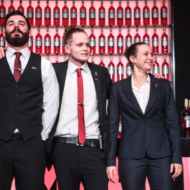 I tre finalisti in attesa di verdetto