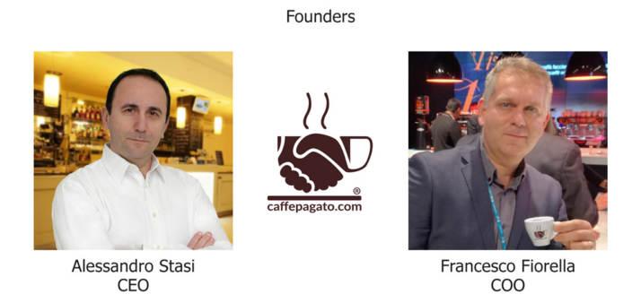 I fondatori di Caffepagato: Alessandro Stasi (CEO) e Francesco Fiorella (COO