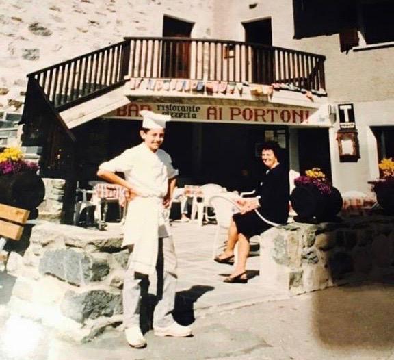Chef Alessandro Negrini - Ristorante Ai Portoni Chiareggio - anni '90