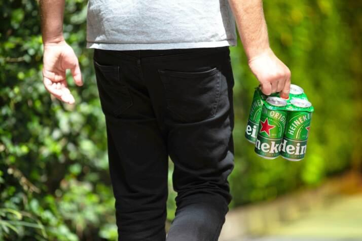 Heineken Green Grip - Topper anelli di cartone sostenibile per larttine