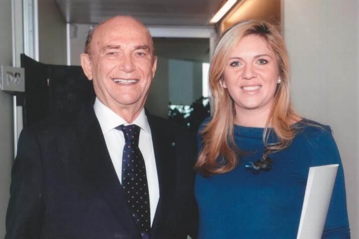 Ernesto Pellegrini, presidente, e sua figlia Valentina, vicepresidente