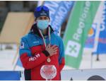 Acqua Sant'Anna in vetta al podio con Samuele Giraudo al Campionato italiano sci di fondo
