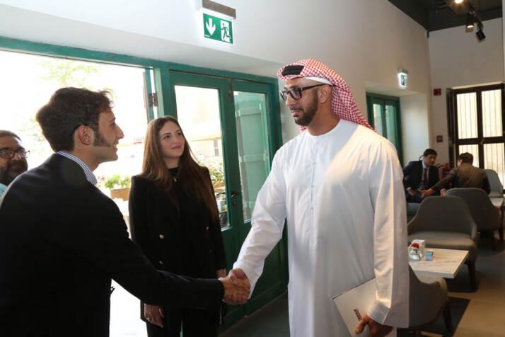 Cesare e Antonia Trucillo con Mr Mohamed Hareb Al Otaiba
