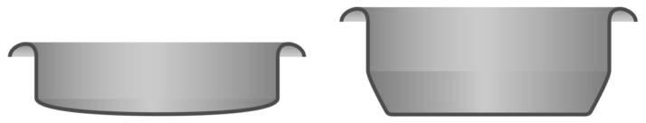 sezione filtri ciechi: a sinistra quello normale, a destra Blindy