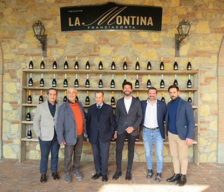 Gianluca Cittadini con la Famiglia Bozza di La Montina Franciacorta