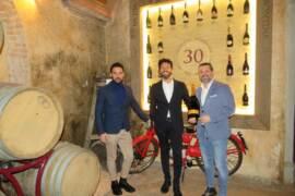 La Montina Franciacorta: da sx Daniele Bozza, Gianluca Cittadini, Michele Bozza