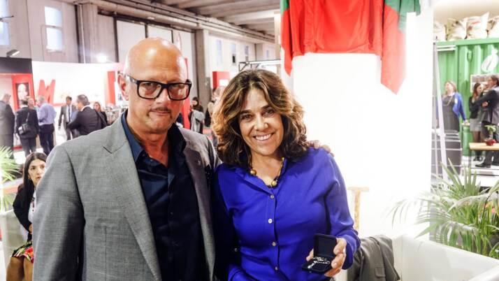 Franco Bazzara, Presidente della Bazzara, e Gloria Isabel Ramirez Rios, illustrissimo Ambasciatore della Repubblica di Colombia in Italia