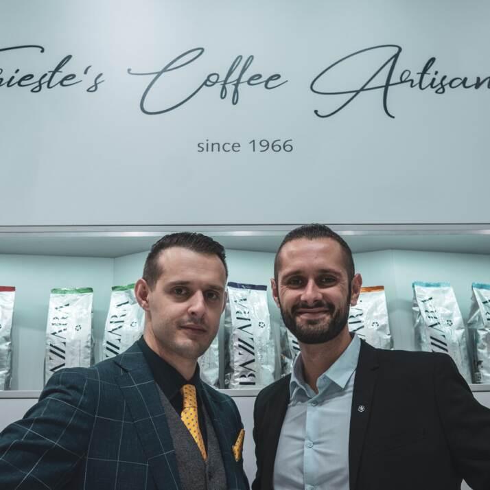 Marco e Andrea Bazzara, rispettivamente e Responsabile Qualità e Sales Export Manager della Bazzara Espresso