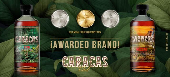 premiati con medaglia d'argento anche Ron Caracas Nectar e Ron Caracas Club Anejo 8 Años, quest'ultimo ha ricevuto anche la prestigiosa medaglia d'oro per il design.
