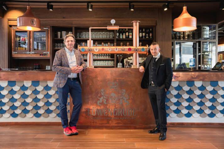 gli imprenditori Gianni Ugolini, uno dei quattro affiliati di Modena, e Pietro Nicastro, fondatore di Löwengrube con Monica Fantoni