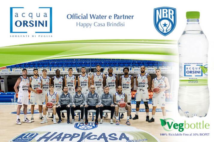 Orsini è l'acqua che disseta naturalmente i campioni dell'Happy Casa Brindisi
