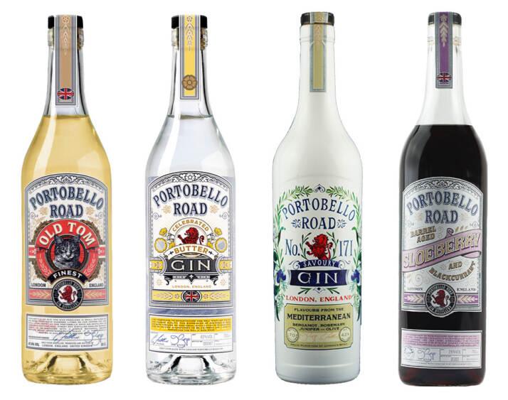 I nuovi Gin di Portebello Road