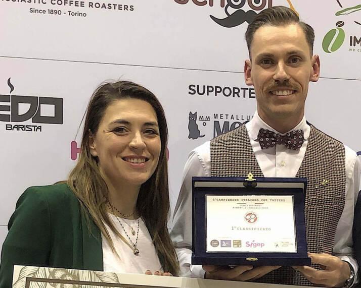 Premiazione Serena Nobili e Fabio Dotti