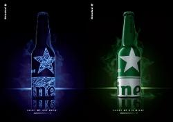 Design Heineken Aluminium Bottiglia Accende Notte