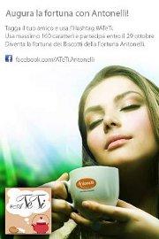 Antonelli augura la fortuna con un messaggio che sa di Tè. Prende il via il nuovo progetto social su www.facebook.com/ATeTi.Antonelli
