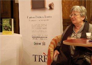 Un espresso con Margherita Oggero per la nuova macchina a capsule Trè di Caffè Vergnano