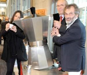 Al SIGEP di Rimini una Moka gigante da mille tazze di caffè