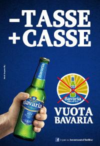 """""""BAVARIA"""", Il brand di birra olandese, lancia la sua """"campagna elettorale: """"alle prossime elezioni """"Vuota Bavaria"""""""
